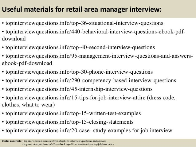 Elegant Retail Job Interview Questions
