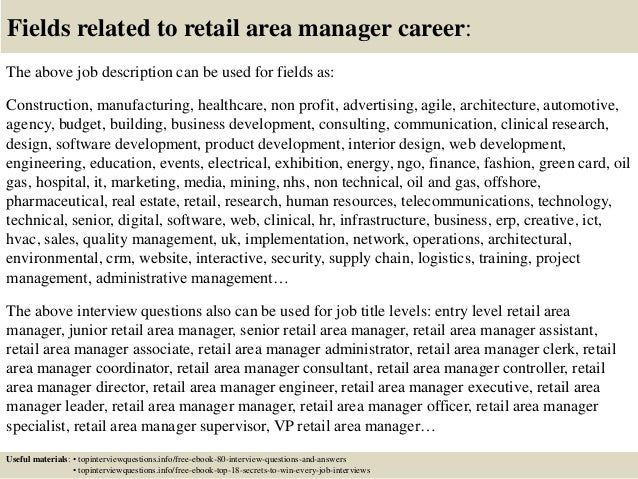 top  retail area manager interview questions  answers