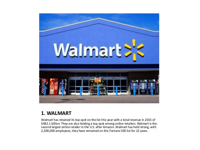 top fortune 500 retailers essay 27082012  essay wal-mart financial analysis  staying on top of the fortune 500 i background last year,  more about essay on wal-mart financial analysis.