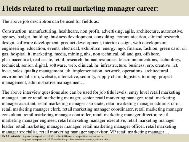 Top 10 Retail Marketing Manager Interview Questions And Answers