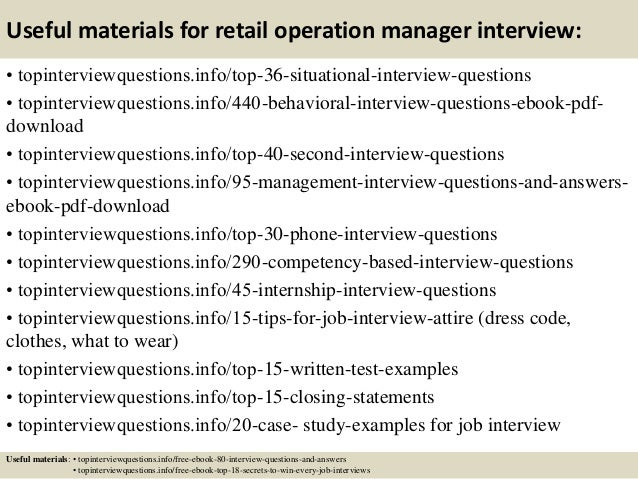Superior ... 12. Useful Materials For Retail Operation Manager Interview: ...