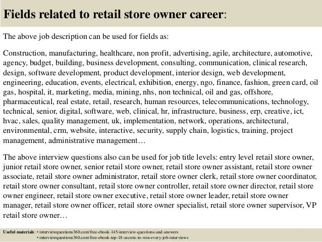 Top 10 retail store owner interview questions and answers