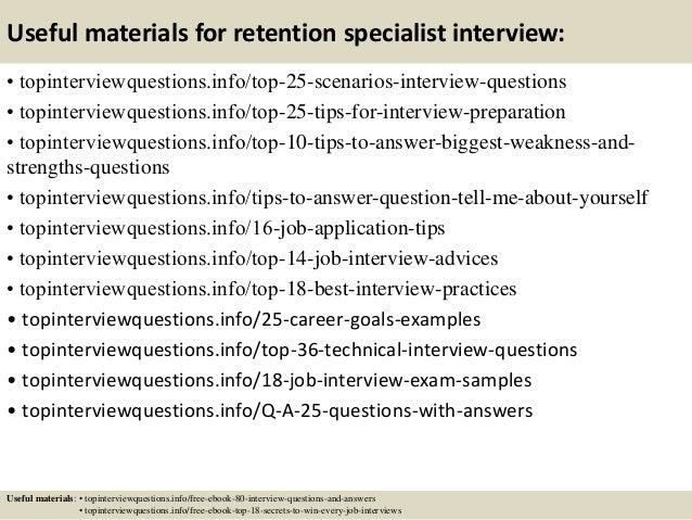 retention specialist