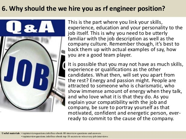 7 6 - Rf Engineer Job Description