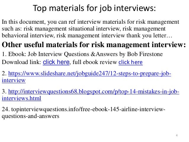 ... Management Interview; 4. Top Materials For Job ...