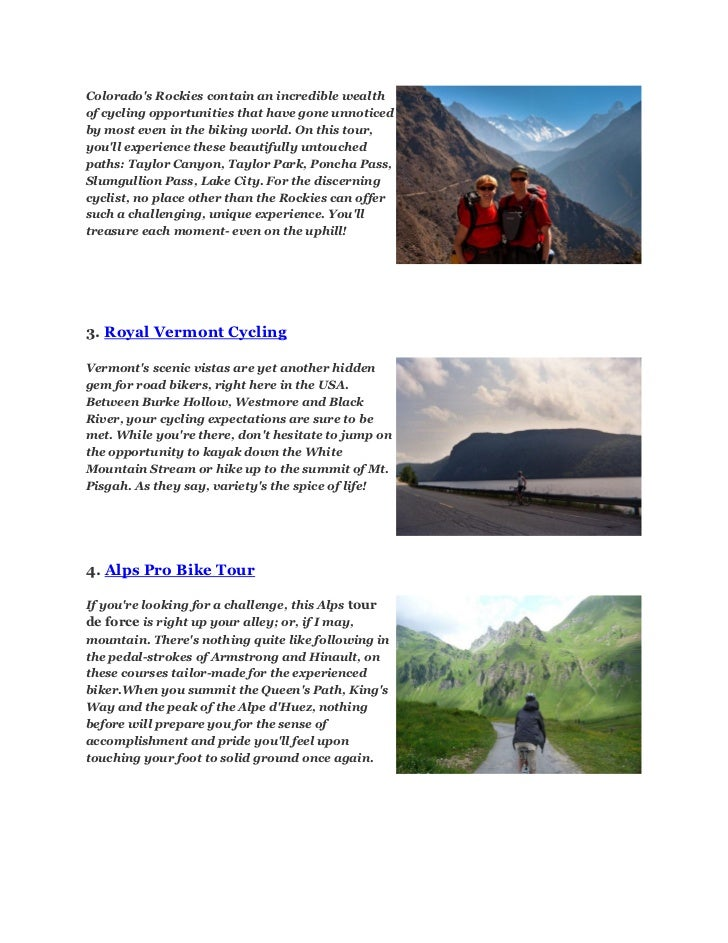Top 10 road cycling trips Slide 2