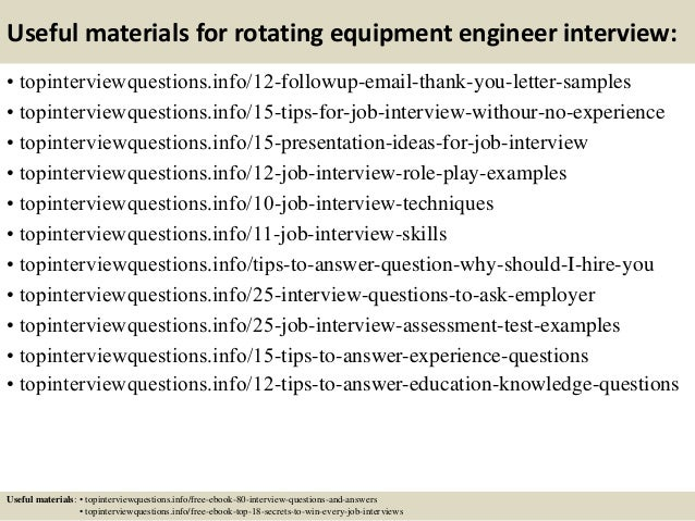 14 useful materials for rotating equipment engineer - Rotating Equipment Engineer Sample Resume