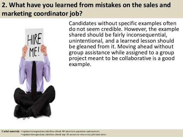 top 10 sales and marketing coordinator interview questions and answers - Marketing Coordinator Interview Questions And Answers