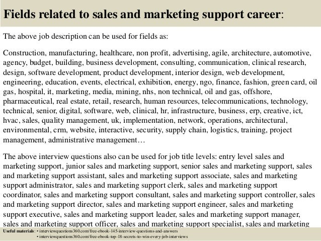 Sales And Marketing Job Description. Job Description Of Manager In