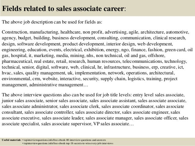 top  sales associate interview questions  answers