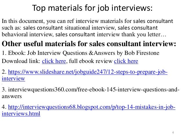... Consultant Interview; 4. Top Materials For Job Interviews: ...
