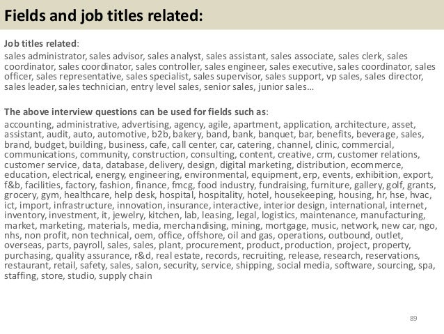 Top 42 Sales Coordinator Interview Questions And Answers Pdf