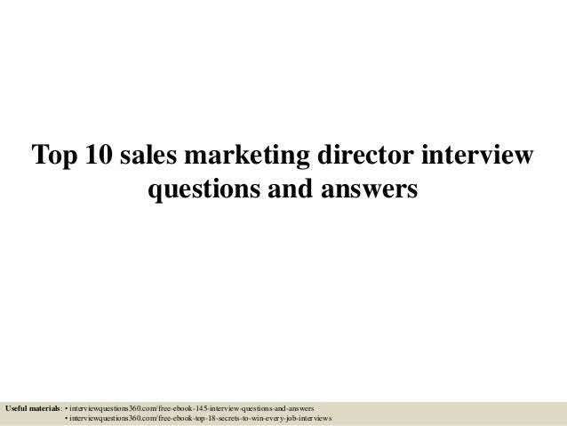 interview questions for marketing director