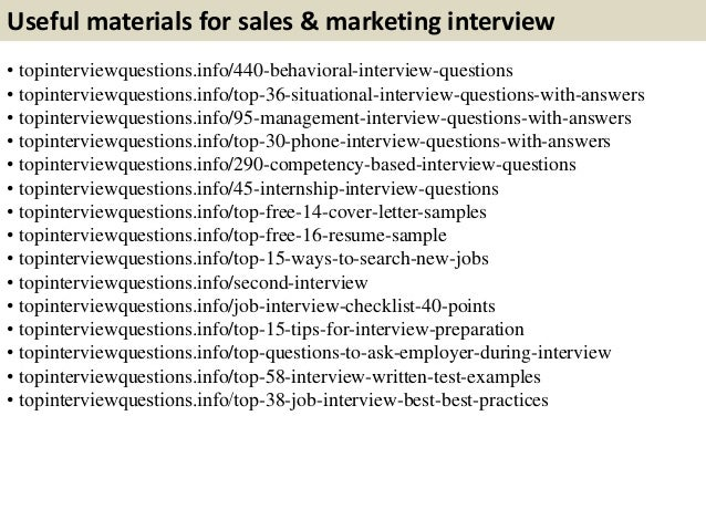marketing questions for interview