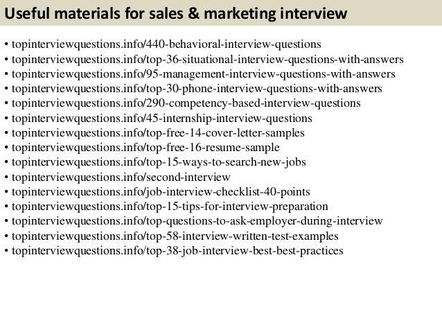 Beautiful 11. Useful Materials For Sales U0026 Marketing Interview ... For Marketing Interview Questions