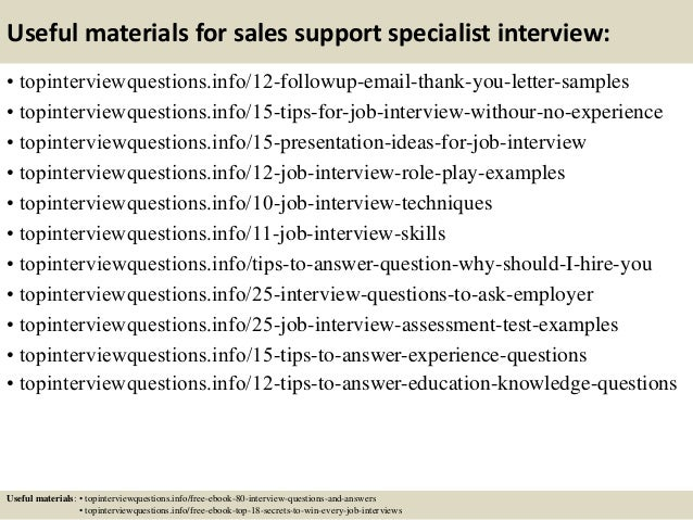 Top 10 sales support specialist interview questions and answers