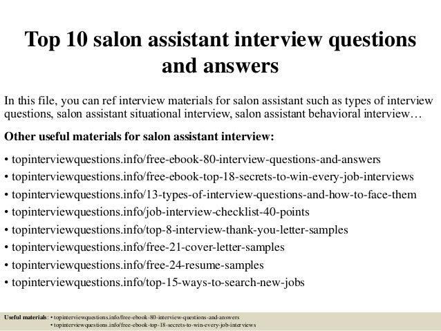 Salon Assistant | Resume CV Cover Letter