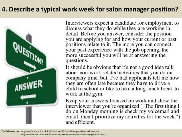 5 4 salon manager description
