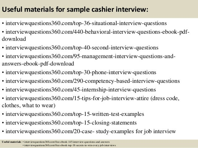 Top  Sample Cashier Interview Questions And Answers