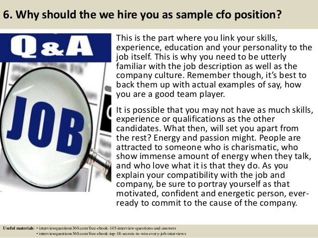 sample cfo job description