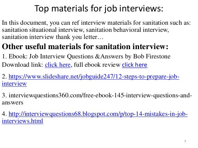 Top 36 sanitation interview questions with answers pdf fandeluxe Images