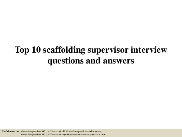 Scaffold test answers ebook array top 10 scaffolding supervisor interview questions and answers 1 638 jpg cb u003d1433292078 rh fandeluxe Gallery