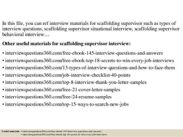 Scaffold test answers ebook 11 useful materials for scaffolding array top 10 scaffolding supervisor interview questions and answers rh slideshare fandeluxe Image collections