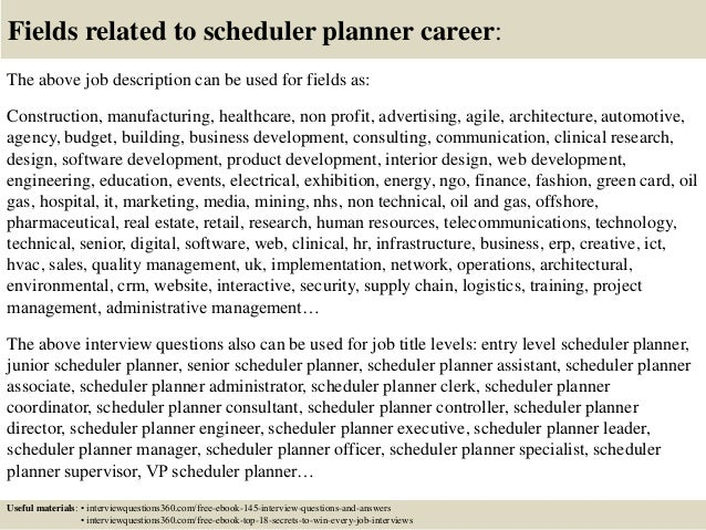 Top 10 scheduler planner interview questions and answers – Master Scheduler Job Description