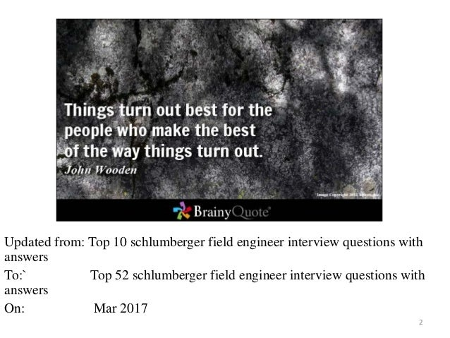 free ebook top 52 schlumberger field engineer interview questions with answers 1 2 - Schluberger Field Engineer Sample Resume