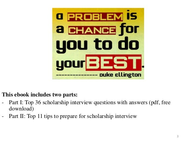Top 36 scholarship interview questions with answers pdf solutioingenieria Choice Image
