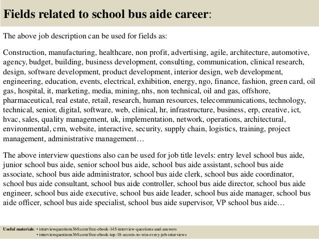 ... 18. Fields Related To School Bus Aide ...