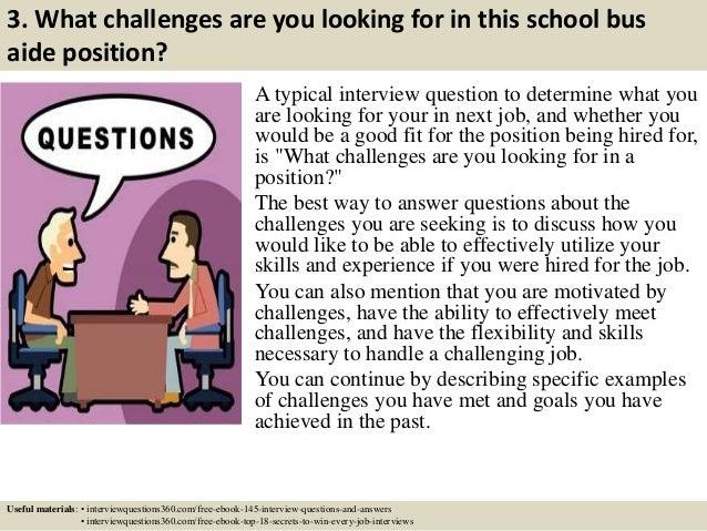 Sample resume school bus attendant