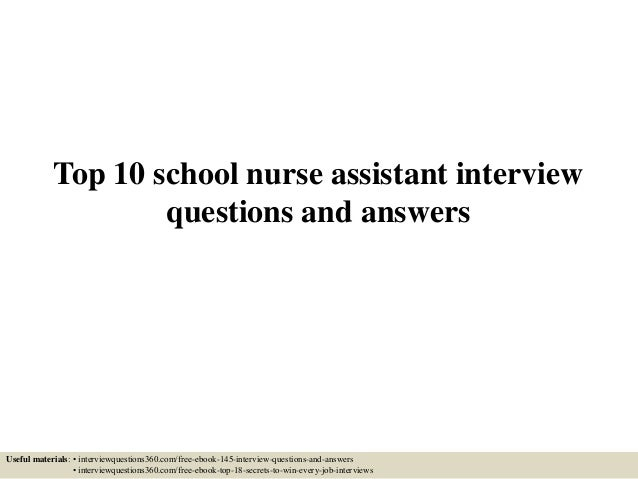 school nurse interview questions and answers