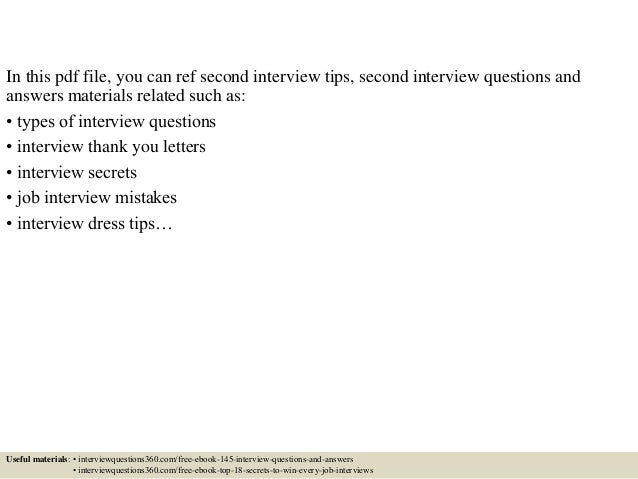 Top 10 second interview questions and answers