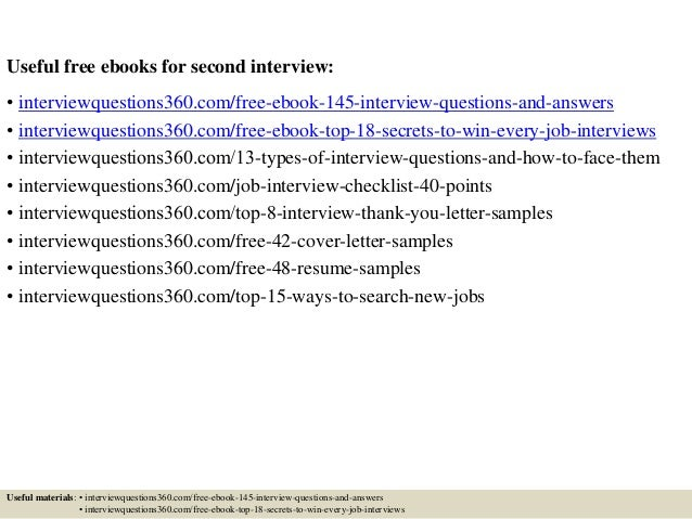 Top 10 second interview questions and answers 4 useful free ebooks for second interview expocarfo Choice Image