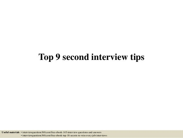second interview preparation