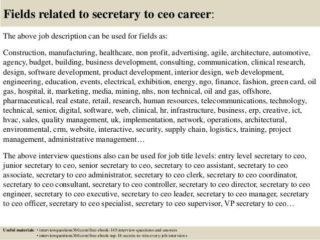 ceo job duties