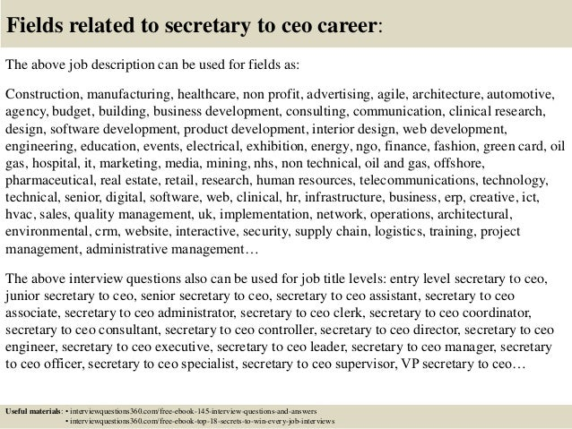 Top  Secretary To Ceo Interview Questions And Answers