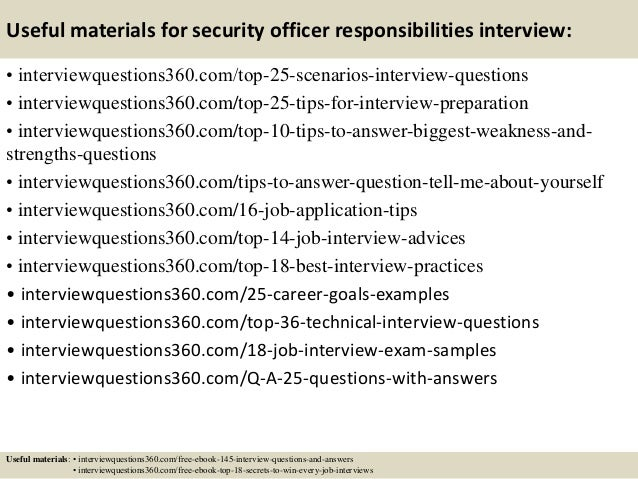 Top  Security Officer Responsibilities Interview Questions And Answ