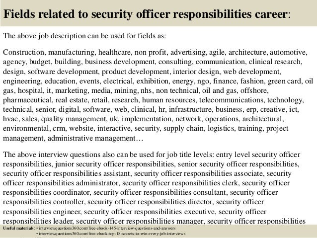 Top 10 security officer responsibilities interview questions and answ…