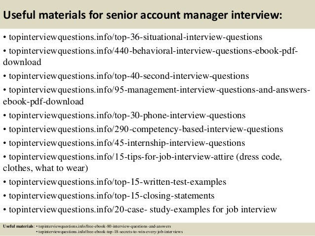 High Quality Sales Account Manager Interview Questions