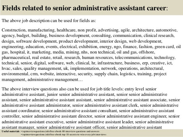 Top 10 Senior Administrative Assistant Interview Questions