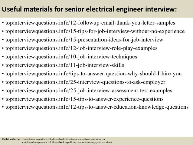 Good ... 14. Useful Materials For Senior Electrical Engineer ...