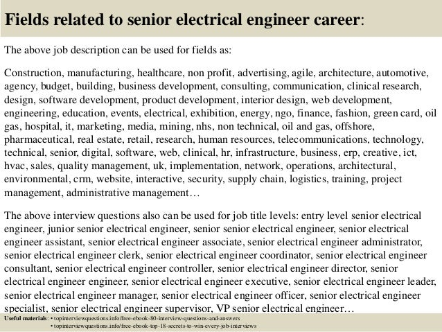 Top  Senior Electrical Engineer Interview Questions And Answers