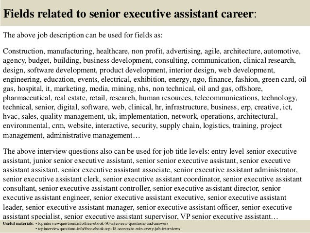 Top 10 senior executive assistant interview questions and answers