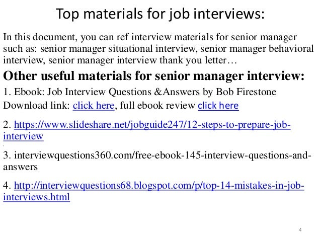 top 36 senior manager interview questions and answers. Black Bedroom Furniture Sets. Home Design Ideas