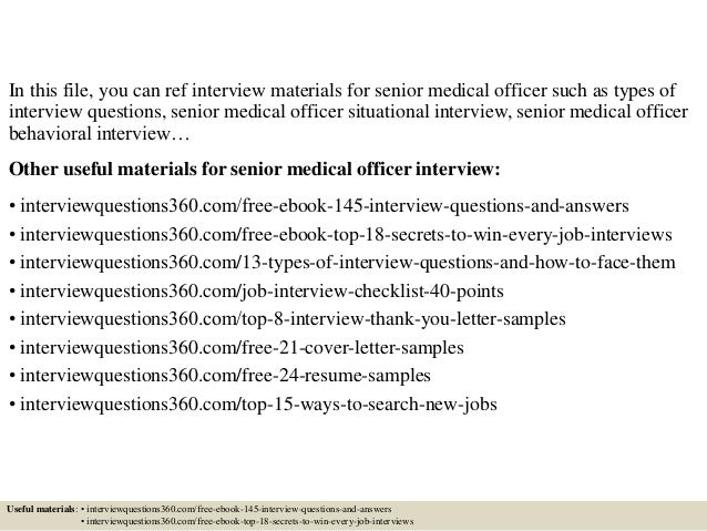 Top 10 Senior Medical Officer Interview Questions And Answers