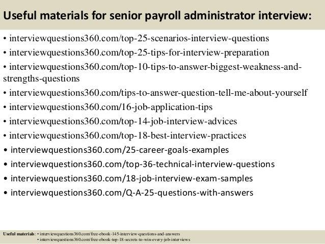 ... 14. Useful Materials For Senior Payroll Administrator ...