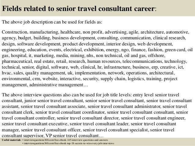 Top 10 Senior Travel Consultant Interview Questions And