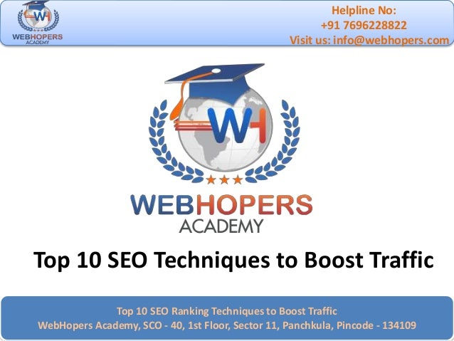 Top 10 SEO Techniques to Boost Traffic of Website